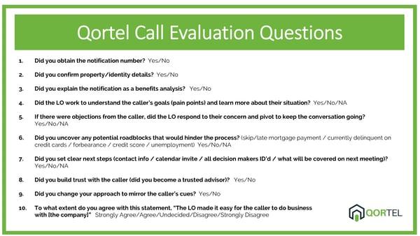 Qortel Evaluation Questions
